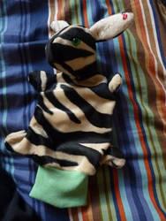 Zebra Handpuppet