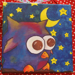 Funny Owl Painting