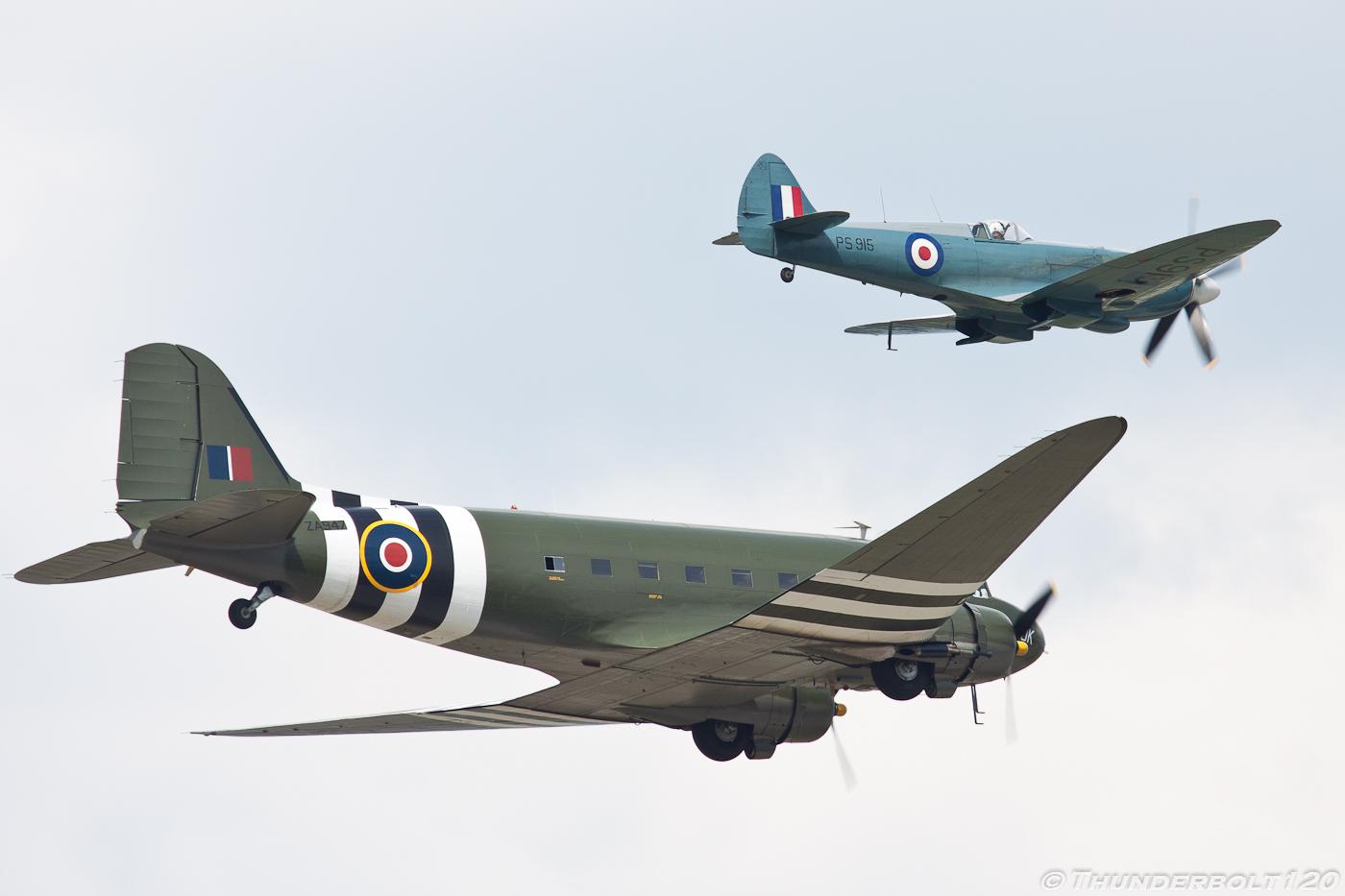Dakota and Spitfire