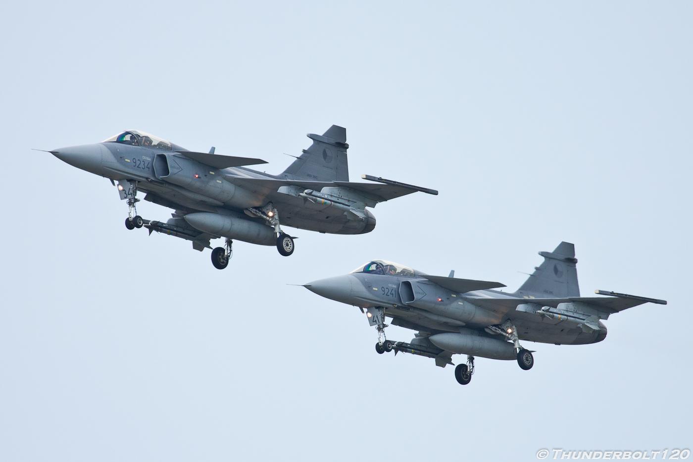 2x JAS-39C Gripen
