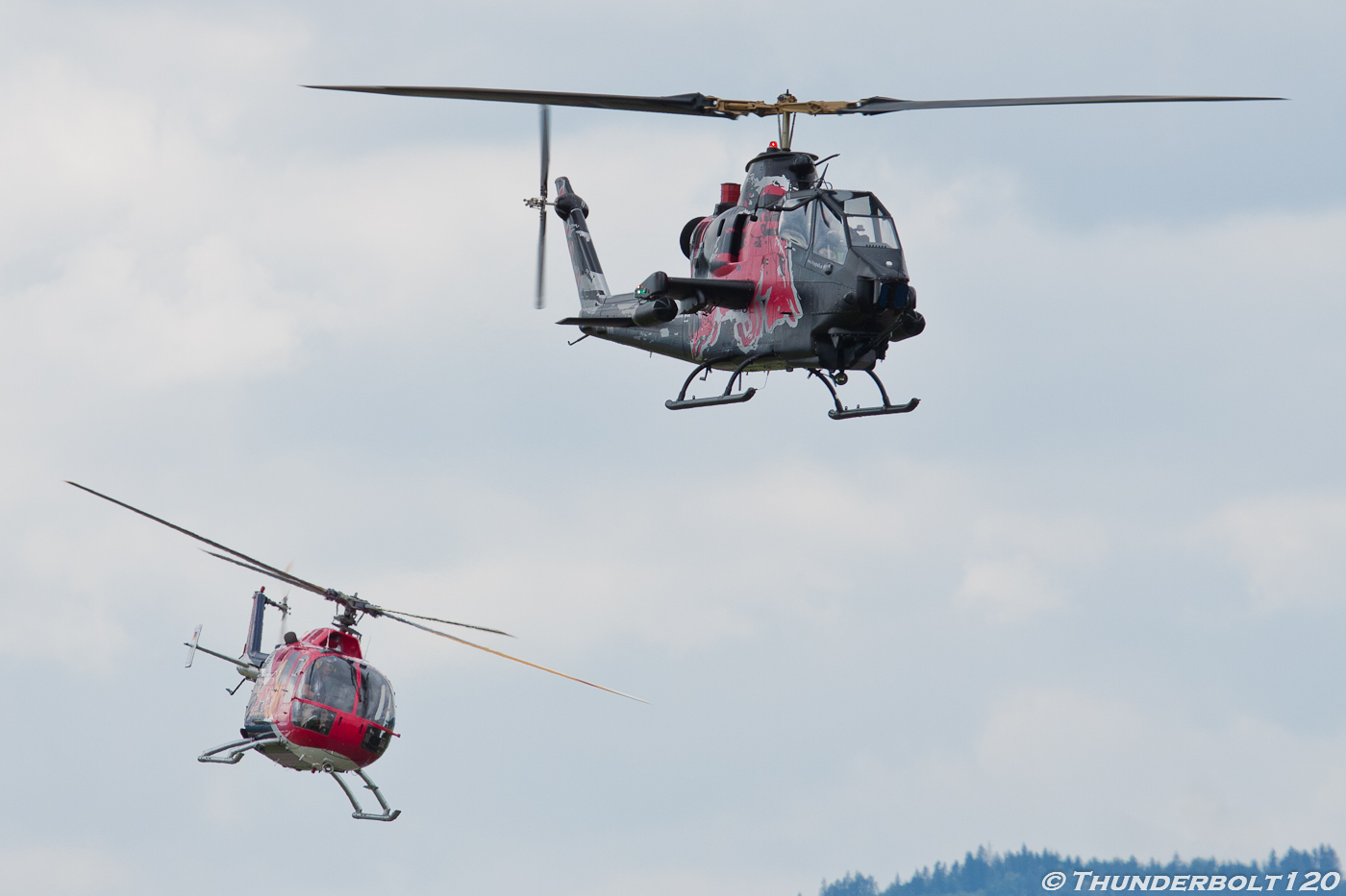 AH-1F and BO-105