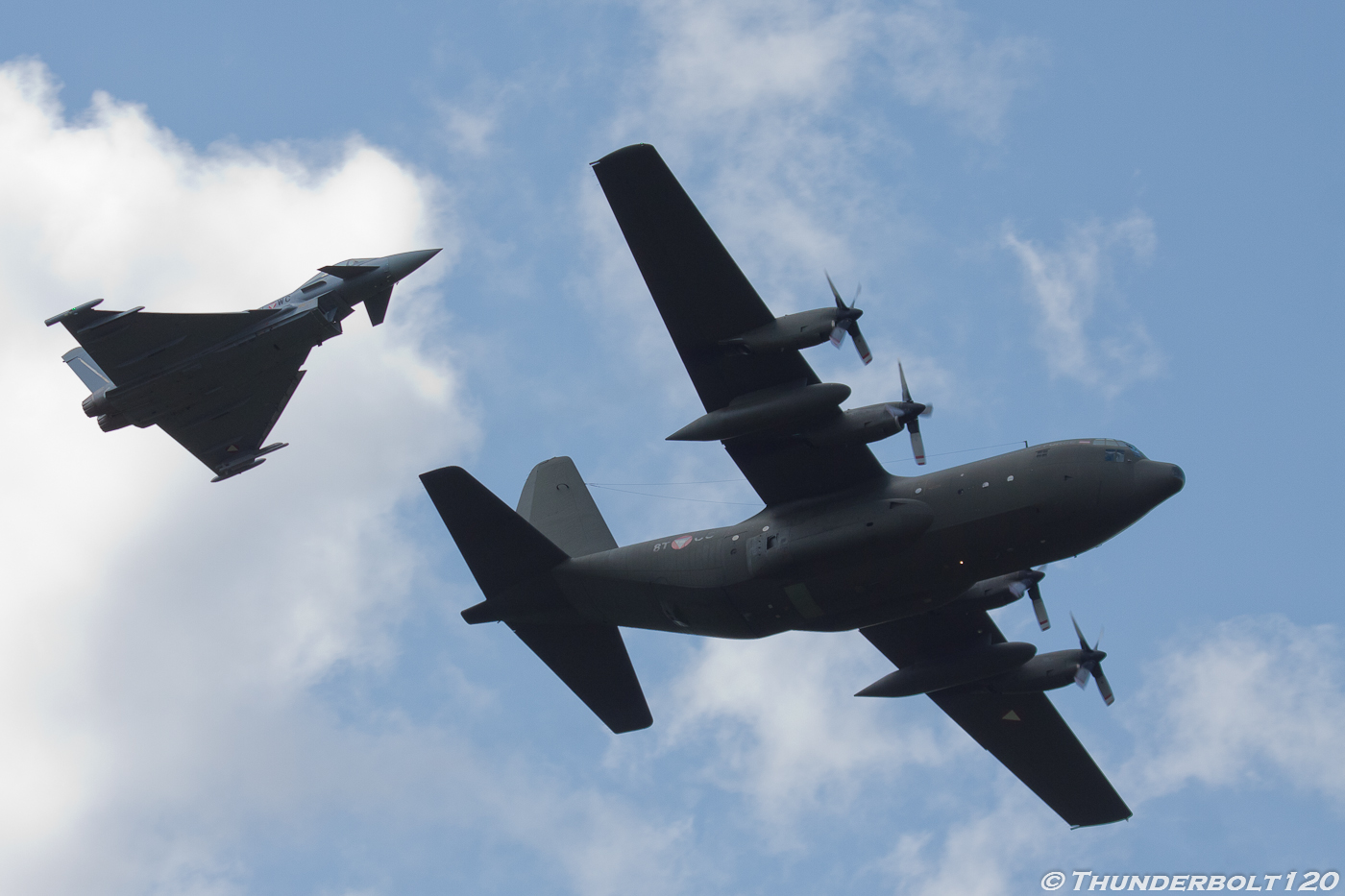 Eurofighter and Hercules