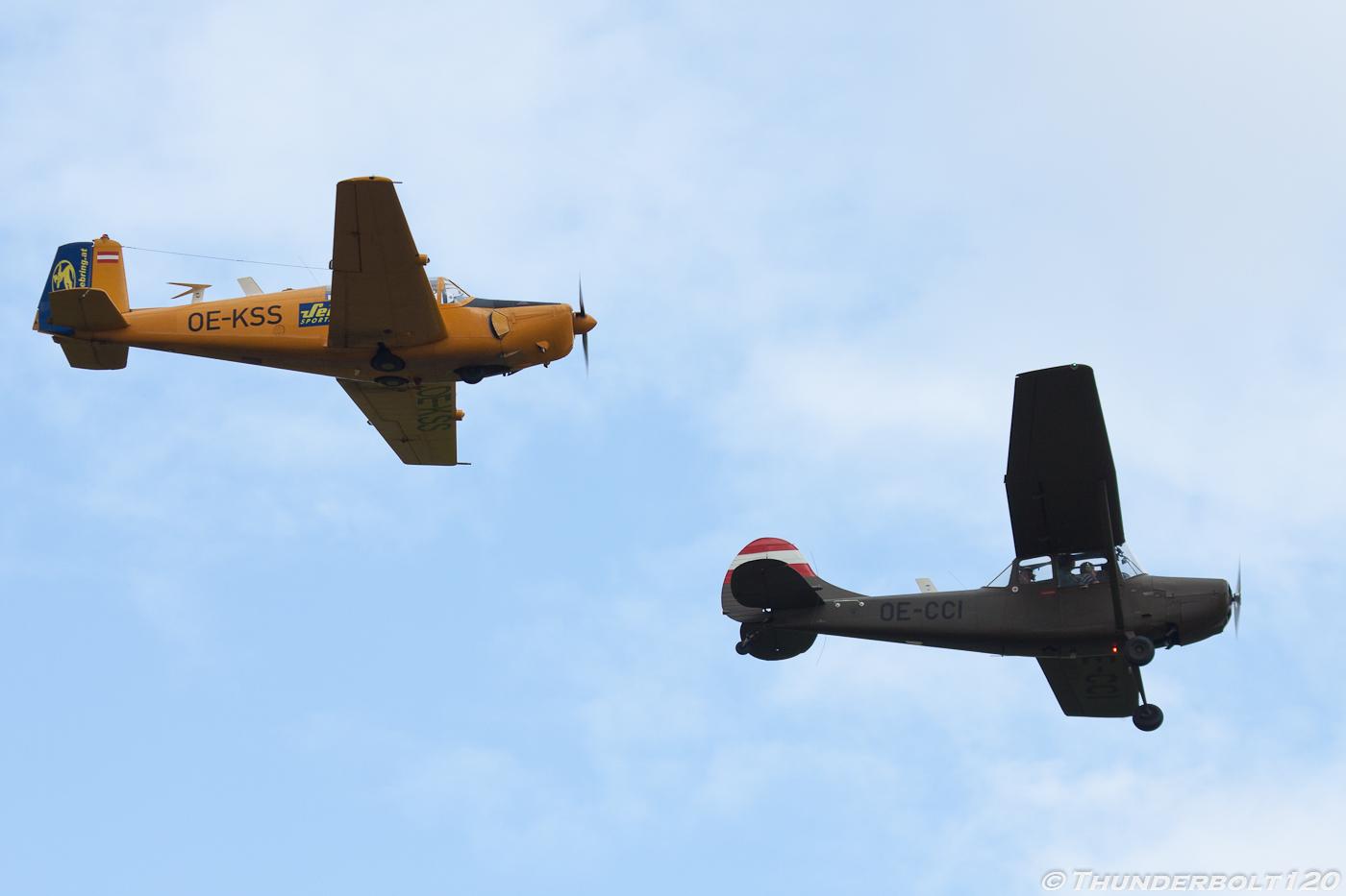 O-1E and Saab 91D