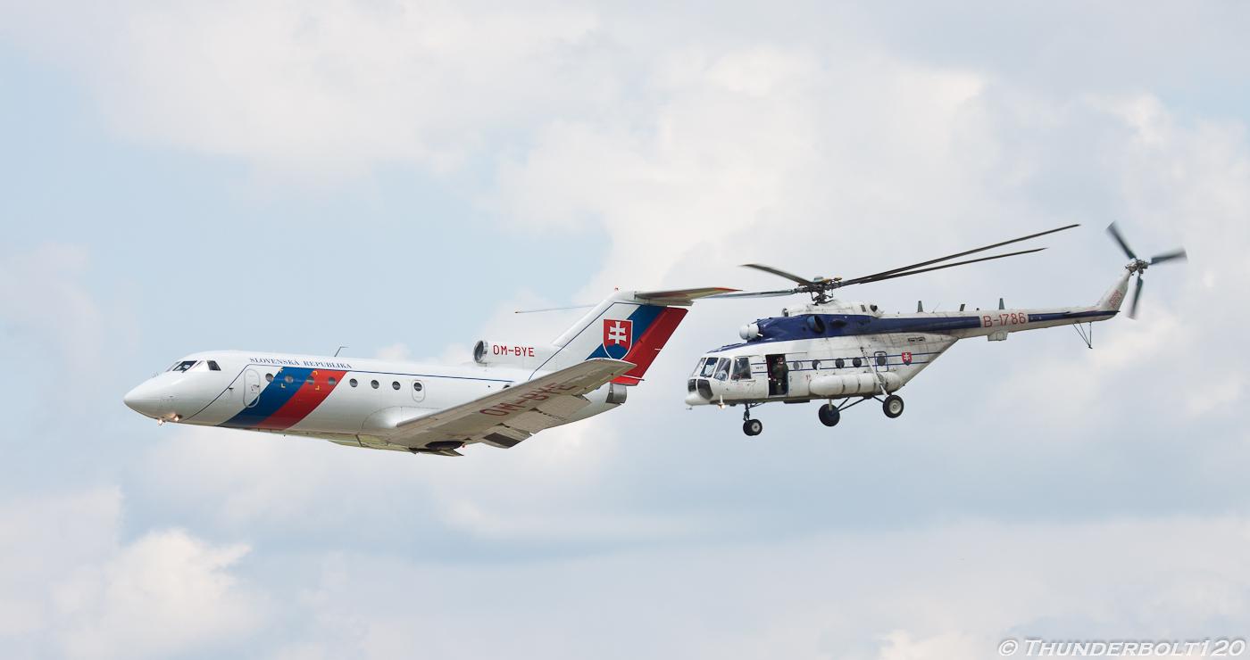 Yak-40 and Mi-171