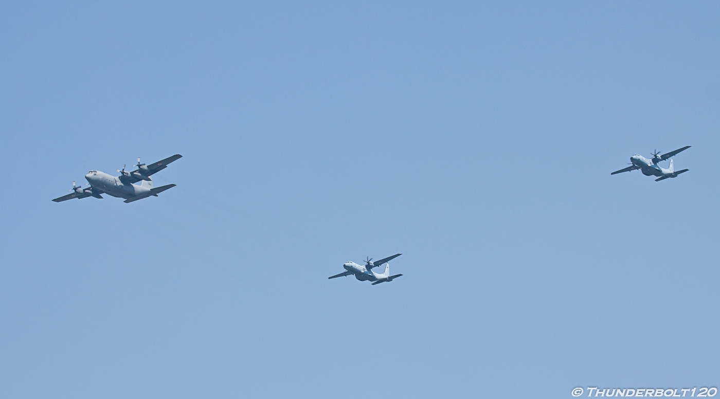 C-130 and 2x C-295