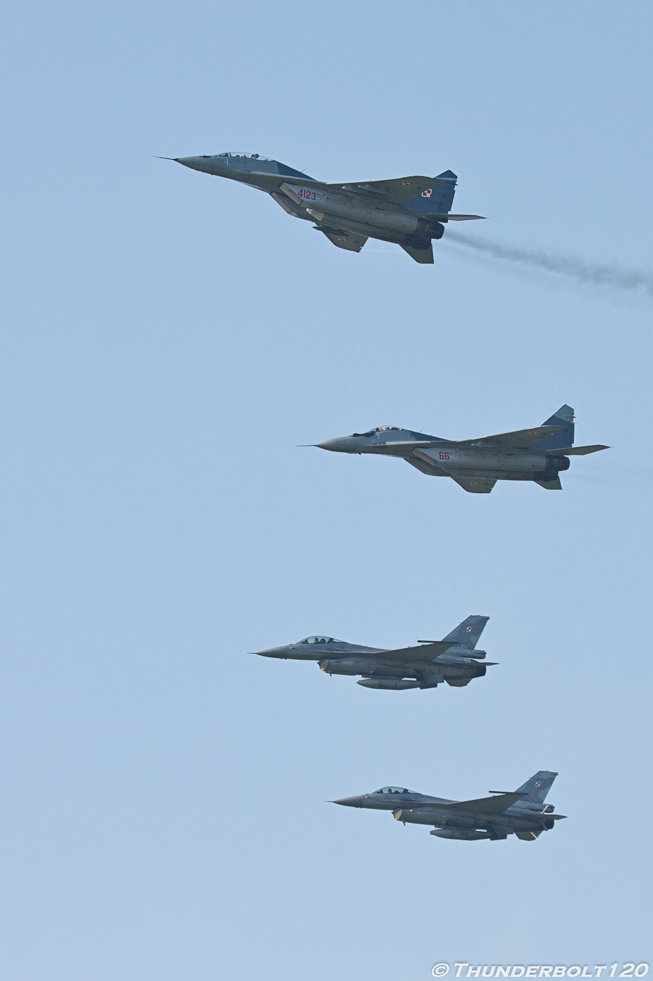 2x Mig-29 and 2x F-16