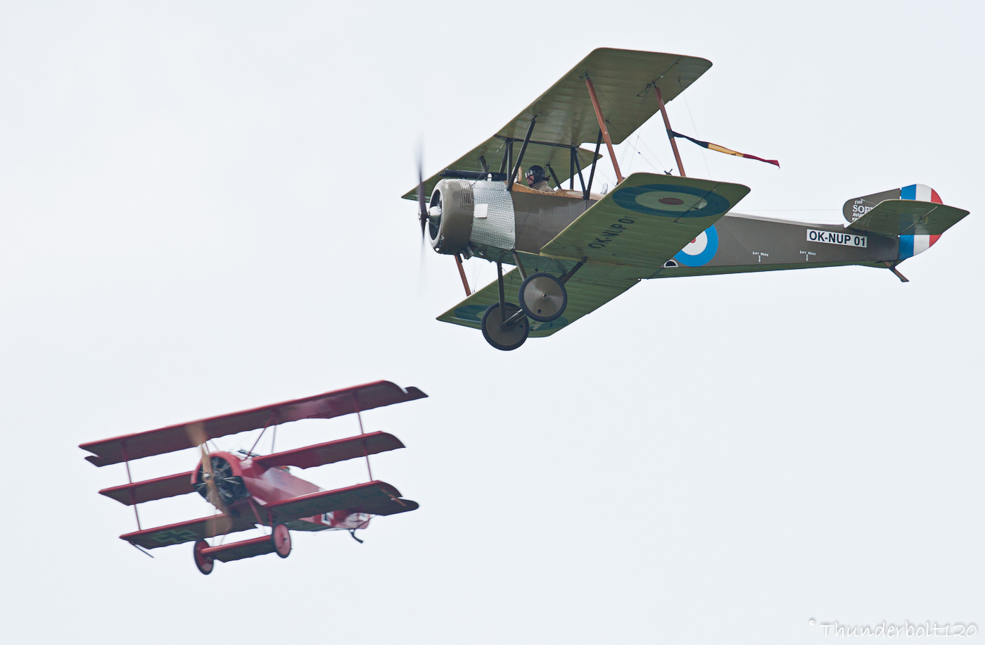 Sopwith Strutter and Fokker Dr.I
