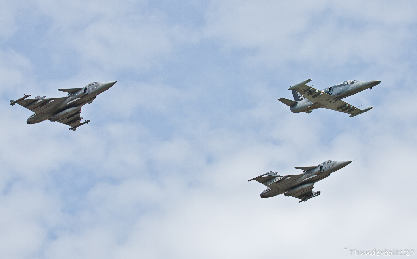 L-159A ALCA and 2x JAS-39C Gripen