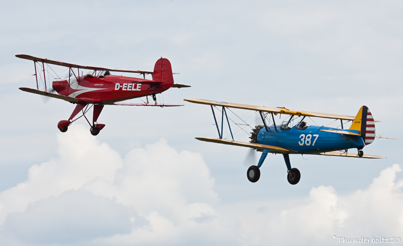 Casa 1-131E and Boeing B-75N1 Stearman