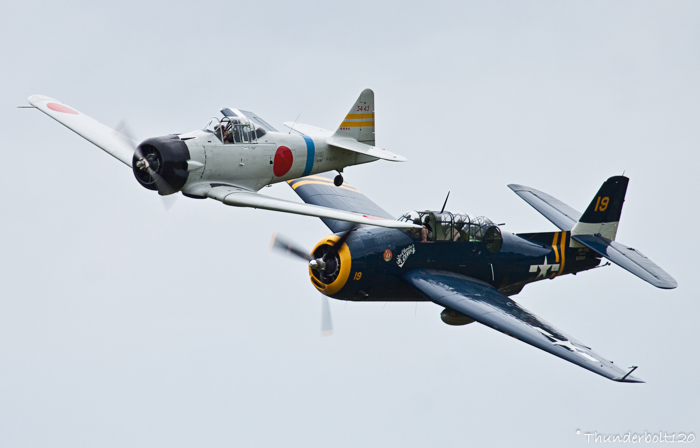 TBM-3 Avenger and AT-6B Texan - Zero