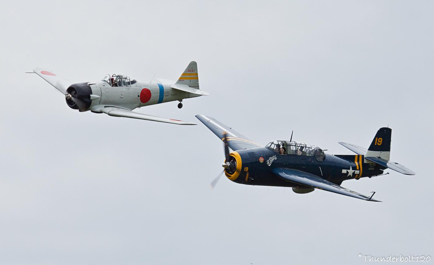 TBM-3 Avenger and AT-6B Texan - Zero