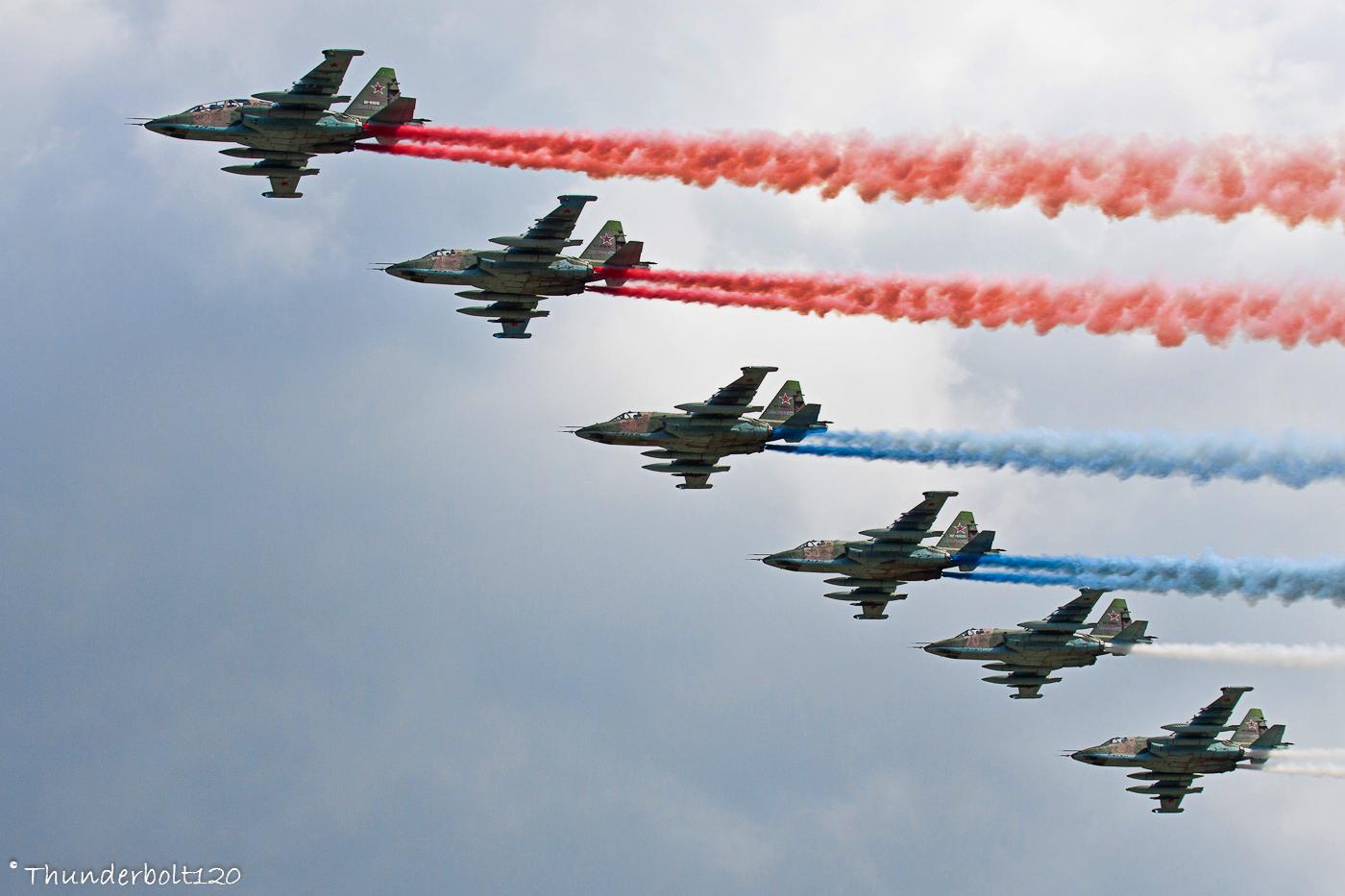 6x Su-25 Russian flag