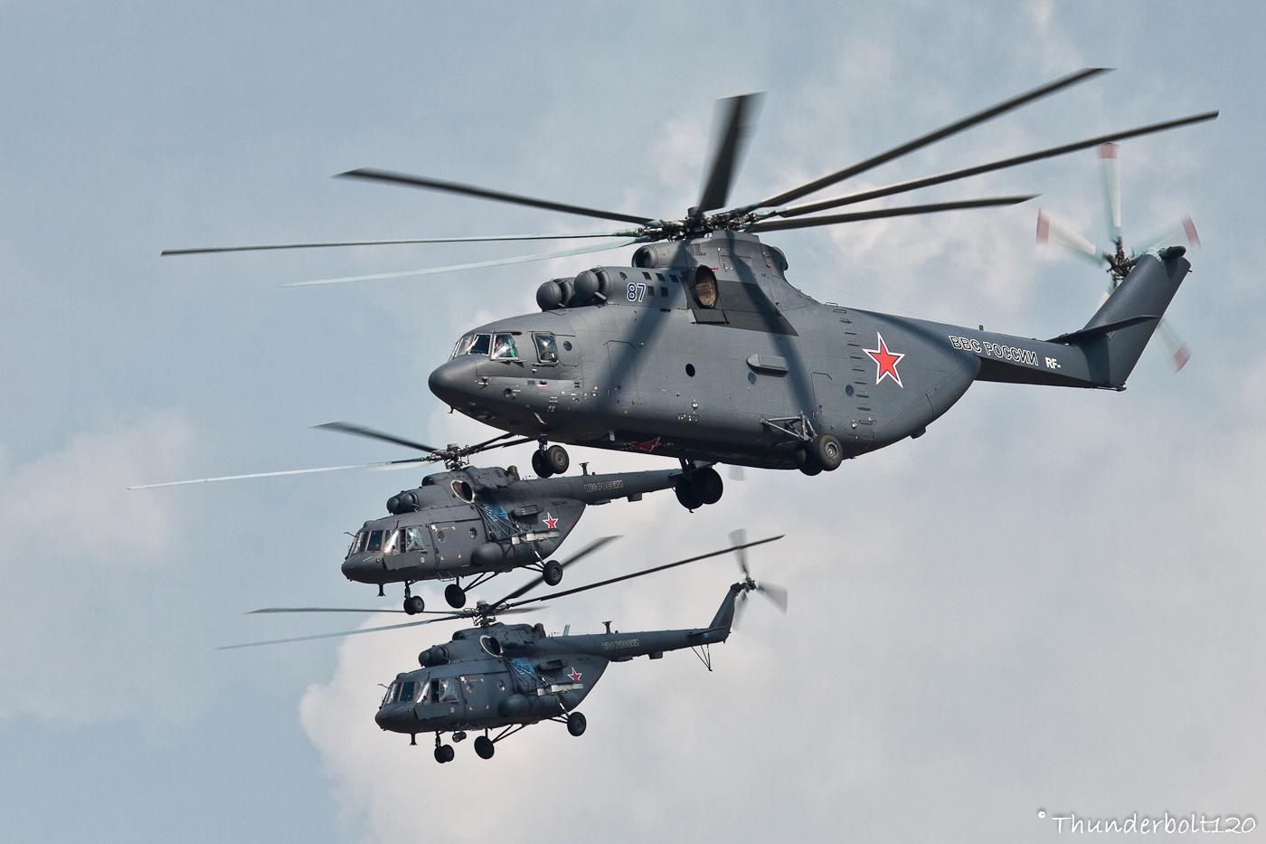 Mi-26 and 2x Mi-17