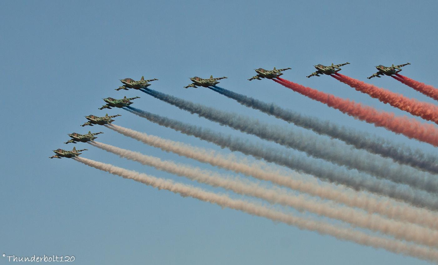 9x Su-25 Russian flag