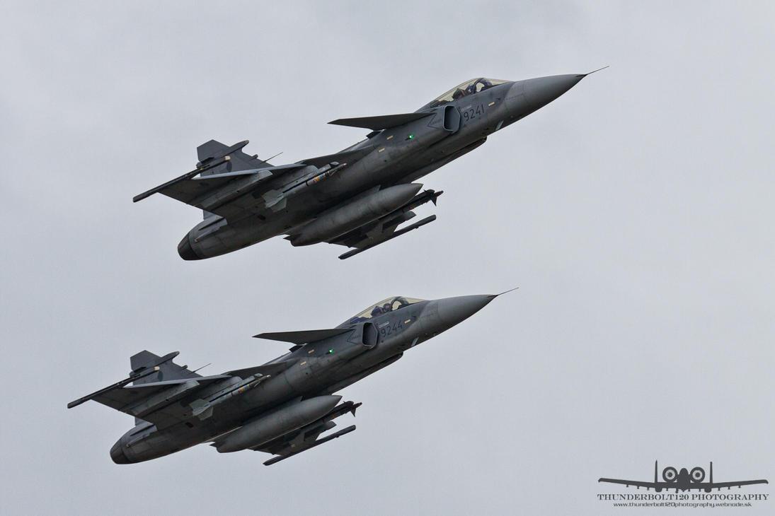 2x SAAB JAS-39C Gripen 9241 + 9244