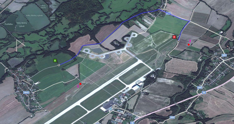 Mapa letiska