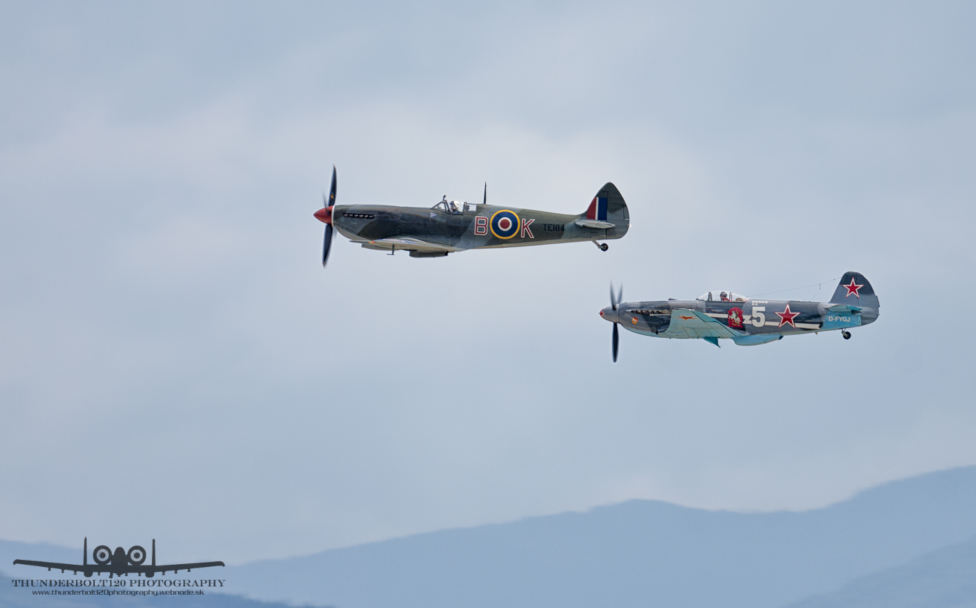Spitfire and Yak-3