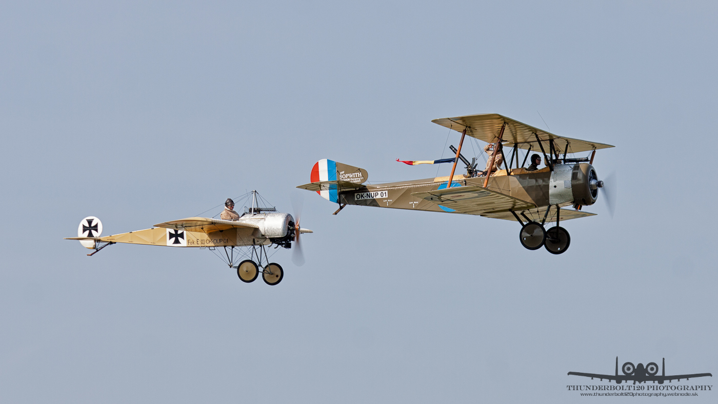 Sopwith Strutter and Fokker E III