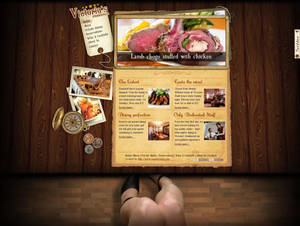Steak House - home page design