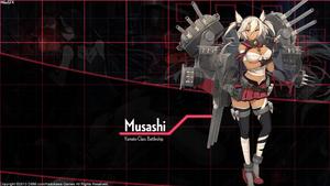 [Kantai Collection] Musashi Wallpaper by shadowmilez