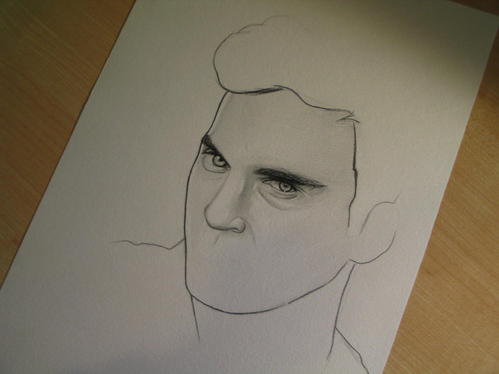 Joaquin Phoenix WIP 3 by Madame-Lullaby