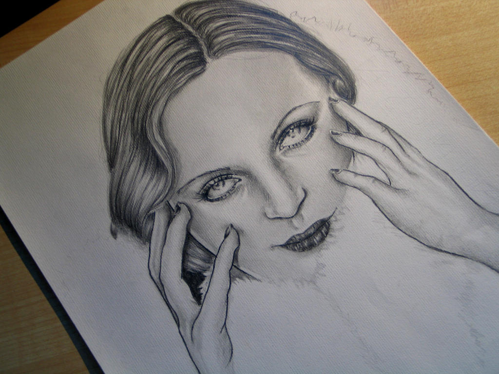 Carole Lombard WIP by Madame-Lullaby