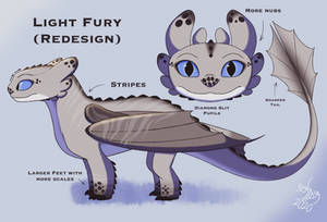 How To Train Your Dragon - Light Fury (Redesign)