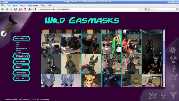 Web Design: Wildgasmasks.com by Catwoman69y2k