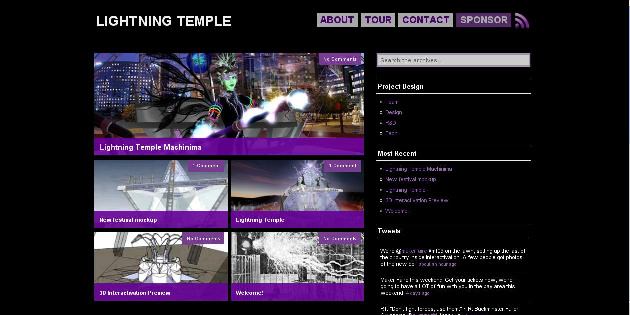 WP Template: Lightning Temple by Catwoman69y2k