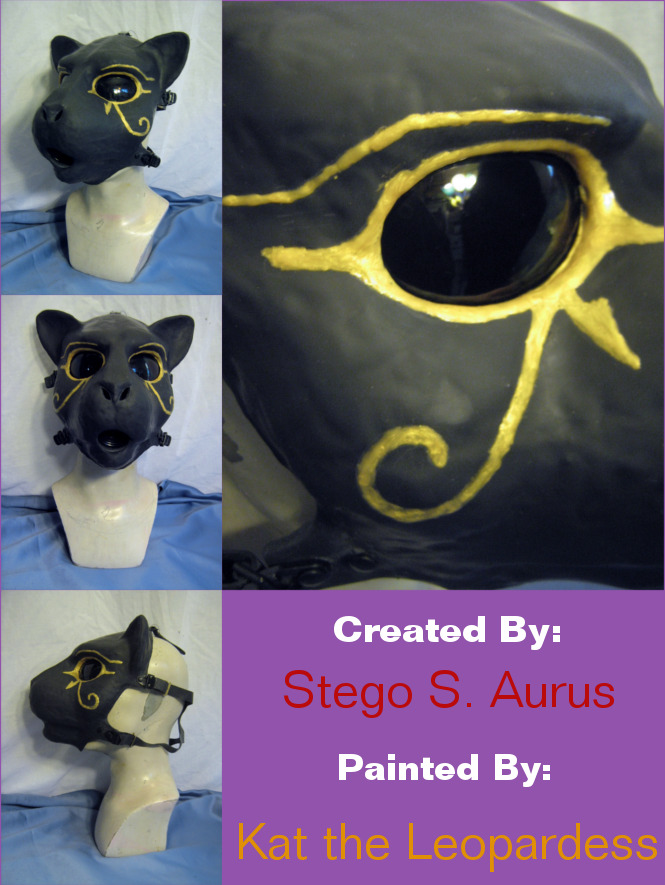 Painted Gas Mask: Bast 2 by Catwoman69y2k