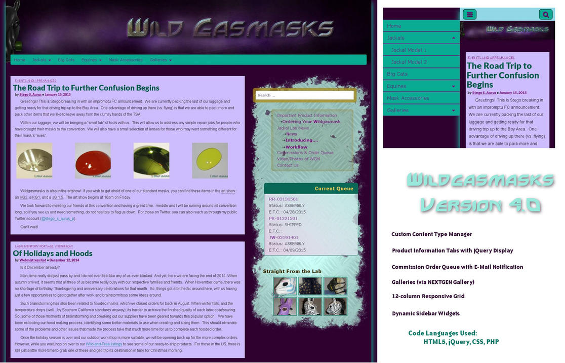 Wild Gasmasks Version 4.0 Layout and Design by Catwoman69y2k