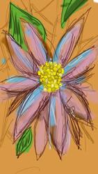 15 min flower doodle