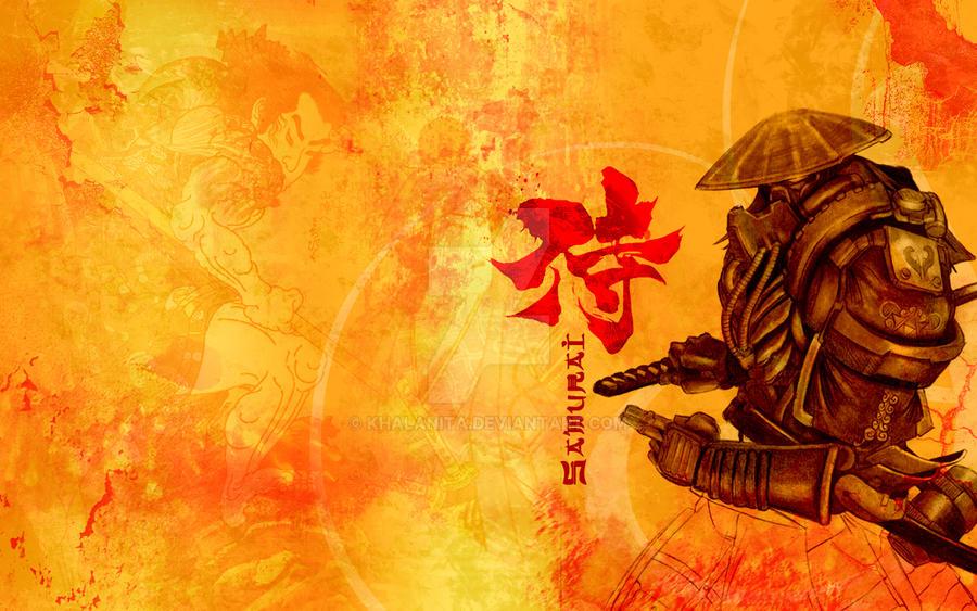 Samurai Wallpaper by khalanita on DeviantArt