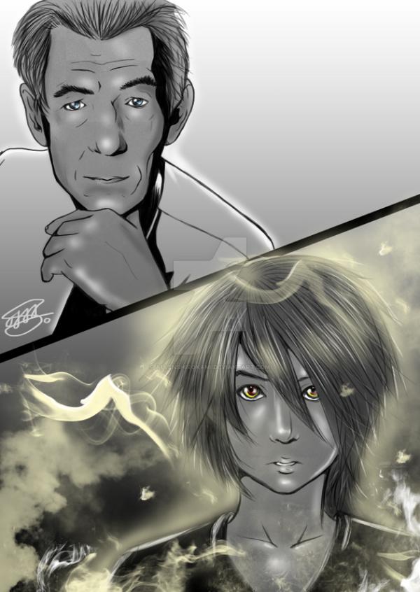 Ara (OC) meets Magneto by AllenShirokami