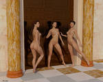 Three Graces and Bronze Door by Modele-Citizen