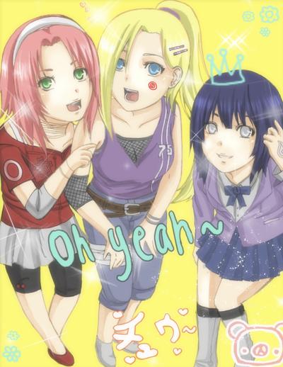 هيناتا وساكورا واينو Naruto__purikura_gir