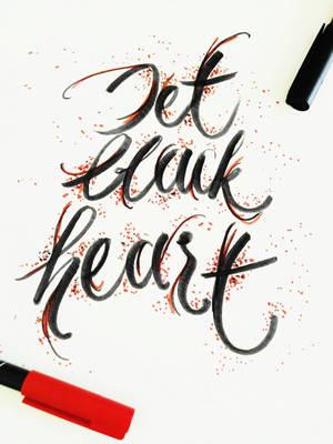 Jet Black Heart by richellevirgiani