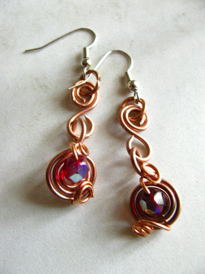 deep sea garnet earrings by tennessea