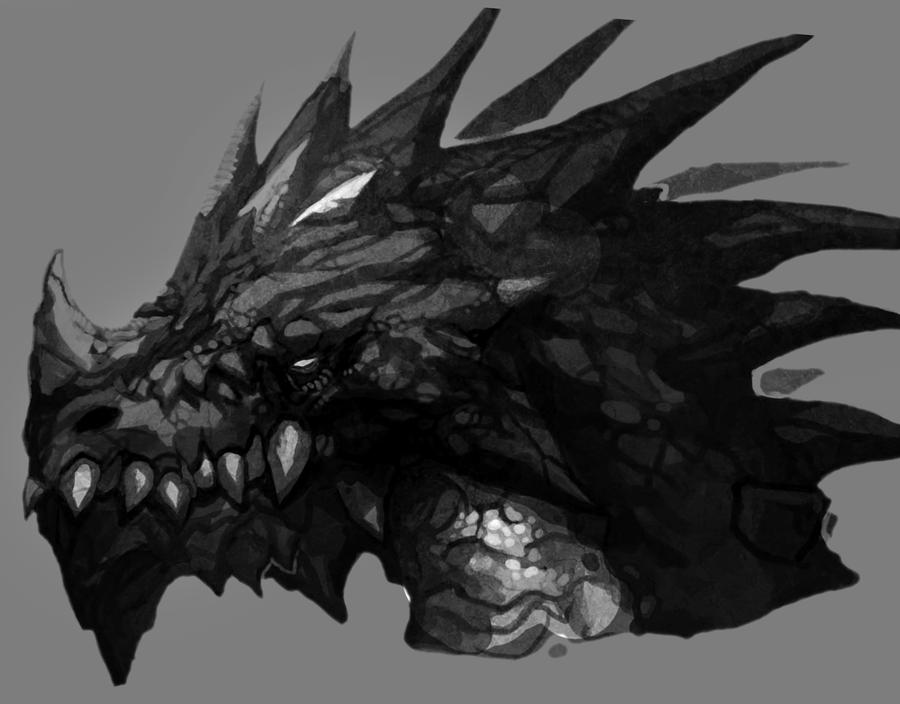 Black Dragon Head By Kinjy Dizp35