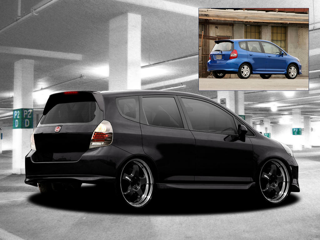 virtual tuning honda jazz by fuxxo on deviantart. Black Bedroom Furniture Sets. Home Design Ideas