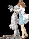Accelerate Hugging Girl Render 1