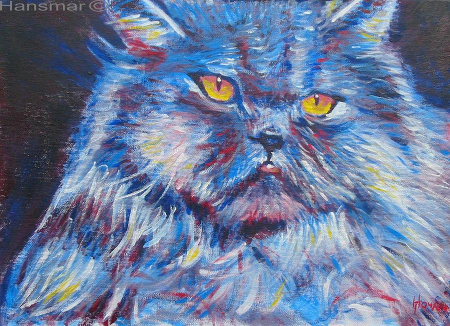 Blue cat by Hansmar