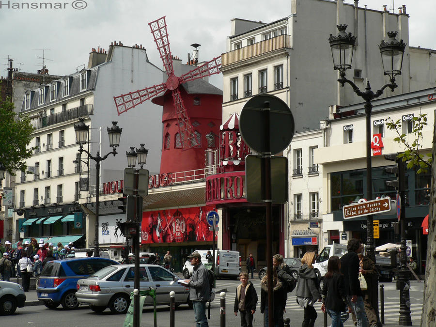 Le Moulin Rouge Paris by Hansmar
