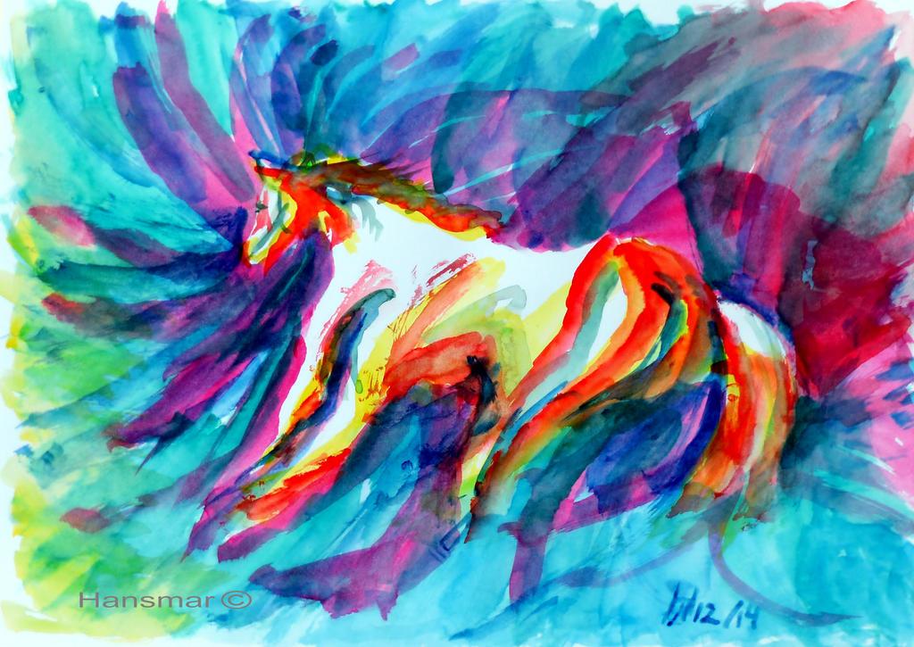 Horse Variations 8 by Hansmar