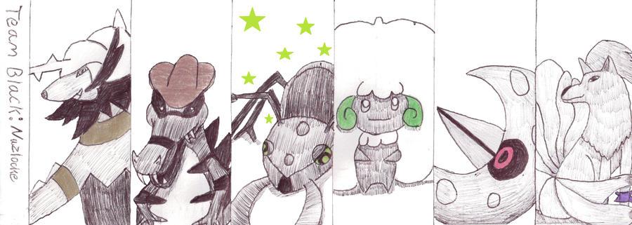 Black Nuzlocke Team by Blue-star-dragon92
