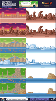 Dbz Sprites Backgrounds 2-3