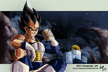 Vegeta after work //color by Argelios