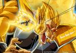 DBM Extra page! Kakarotto Golden Ozaru vs Vegeta by dsp27
