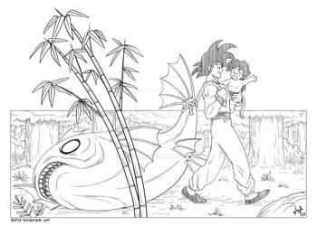 DRAGON BALL GOOD MEMORIES - Goku and Gohan by dsp27