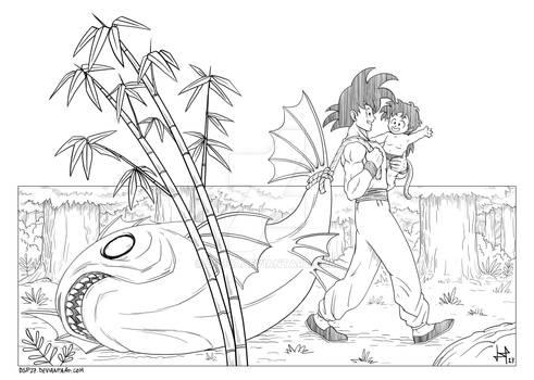 DRAGON BALL GOOD MEMORIES - Goku and Gohan